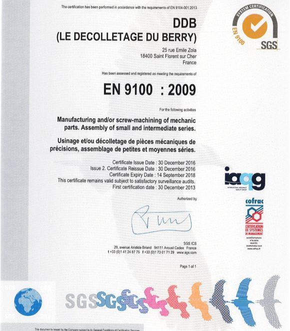 Nos certifications