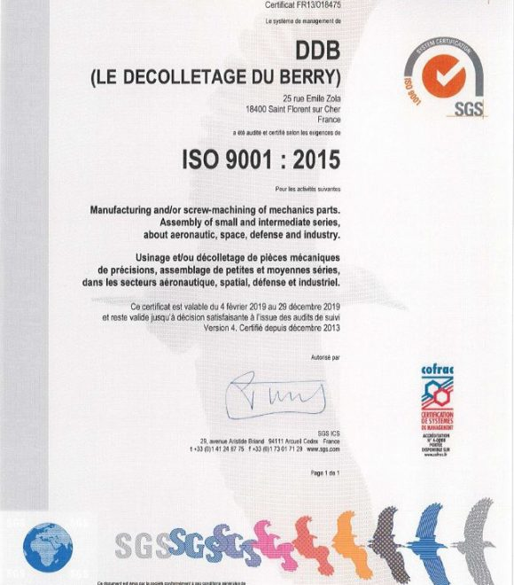 Nos certifications